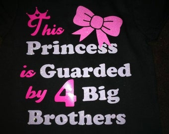 Super cute princess shirt/brothers/any size/any colors