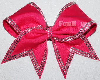 Totally GORGEOUS New Allstar Rhinestone Cheer Bow by FunBows !
