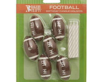 Football Candle Holders & Candles