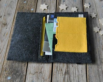 Felt travel wallet, travel accessories, passport wallet, passport cover, travel pouch, passport organizer, travelers lovers gift