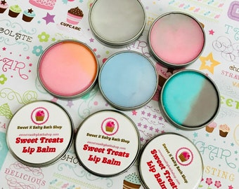 Treats Scented Lip Balm/Tootsie Pop/Butterfinger/Rainbow Sherbet and More!