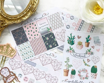 Happy Planner Sweetest Succulents Weekly Kit Planner Stickers