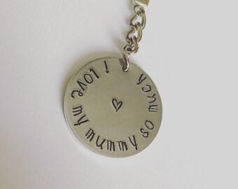 I love my mummy so much key ring...