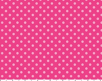 Pink Mini Dots on Fuchsia from Northcott Farbic's Urban Elementz Basix Collection