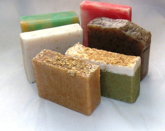 Soap Set of 5 - 5 Different Soaps - Homemade Soap-Homemade Soap-Handcrafted Soap-All Natural Soap-Goat Milk Soap