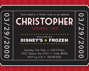 Movie Theme Party Invitation