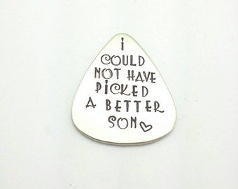 I Could Not Have Picked a Better Son Guitar Pick, Gift for Son, Gift for Him