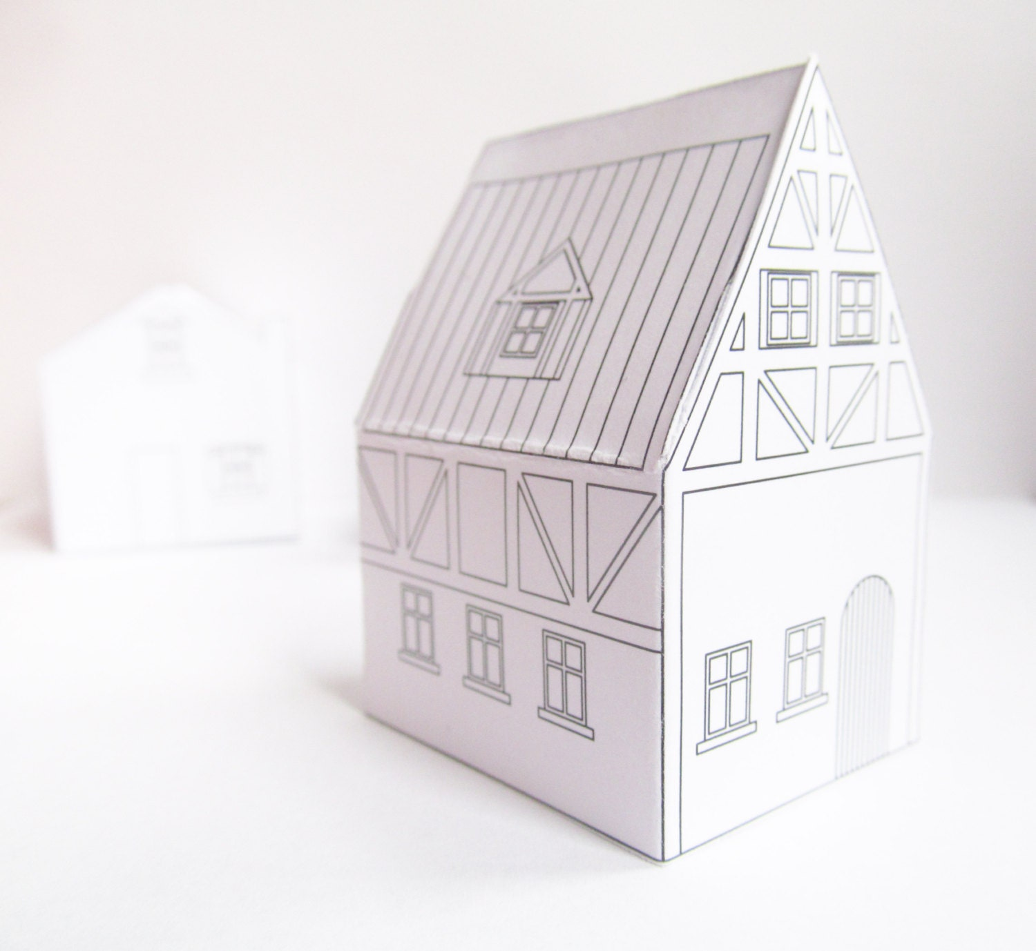 Paper houses Download Templates ready to print christmas