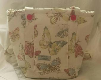 Beautiful Butterfly, Vegan, Cross body, Handmade Bag.