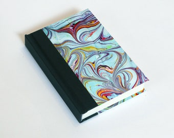 "Sketchbook 4x6"" with motifs of marbled papers - 25"