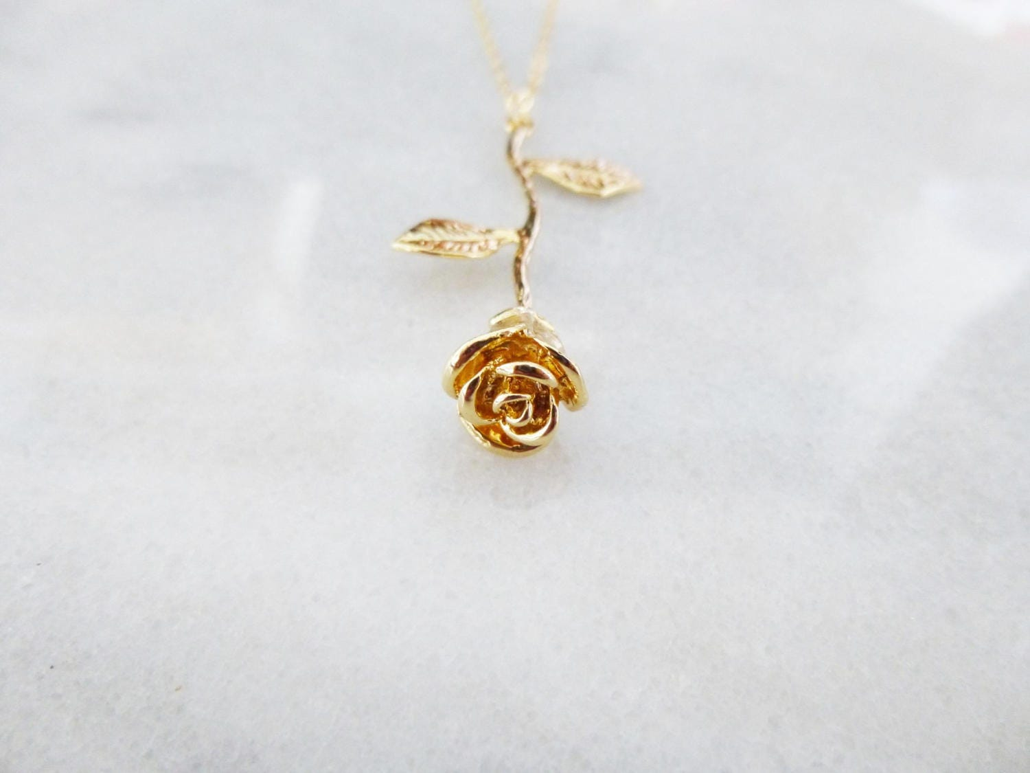jewellery plated beauty disney red charm rosecharm and gold close rose ladies couture beast the necklace