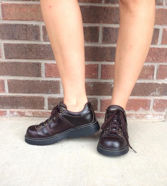 847ce44a776 ZIP grunge kid up leather chunky chunky 9 SKETCHERS heels vintage platform  club 90s POCKETS lace ...