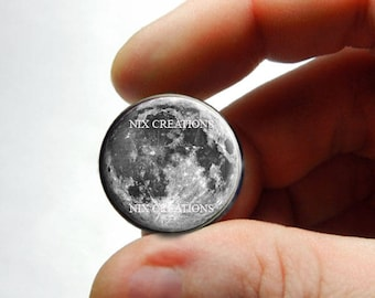 Glass Cabochon - Full Moon - for Jewelry and Pendant Making