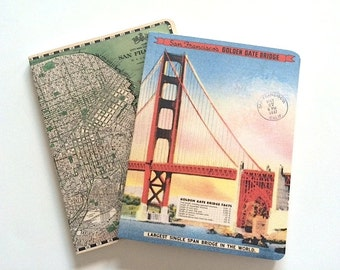 San Francisco quality notebook set , diary , 2 notebooks , lined and graph , notebook