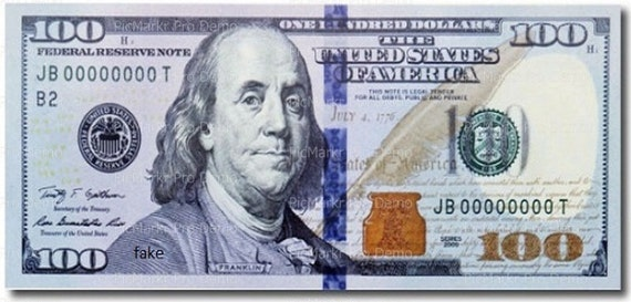 One Hundred Dollar Bill Background - Edible Cake and Cupcake Topper For Birthday's and Parties! - D21383
