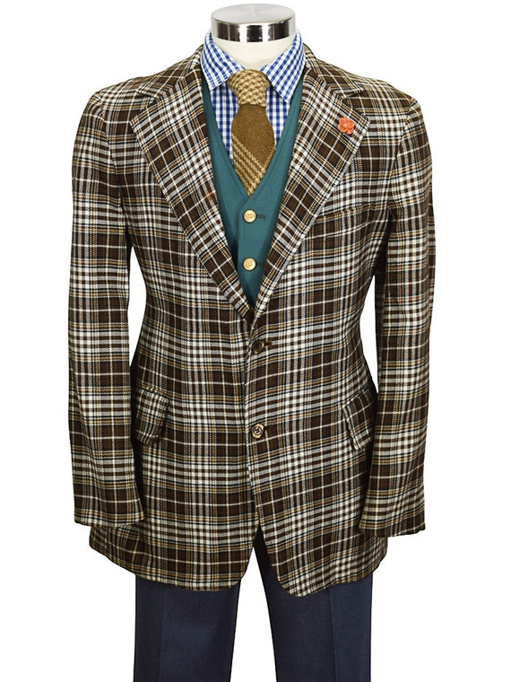 Superb Quality 38R Houndstooth Windowpane Nicely Tailored Gentry Wool Sport Coat t9BQeS7d