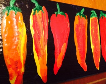 HOT CHILI PEPPERS original painting-- marked 1/2 off