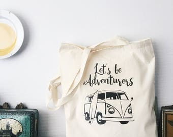 Canvas tote, tote bag, canvas bag, volkswagen, vw, hippie, christmas gift, travel gift, wanderlust, cotton, baumwoll, camper, vw