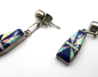 Vintage sterling silver Zuni stud earrings