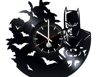 Batman Comics Superhero Vinyl Record Wall Clock