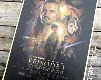 Vintage Style Retro Paper Poster Star Wars Darth Vader