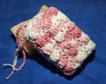 Soap Saver Scrubbie crochet bag, 100% cotton