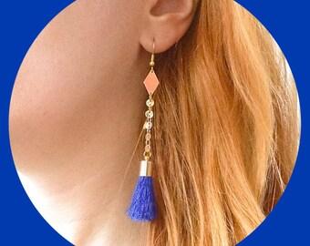 Earrings graphic Blue Pompom