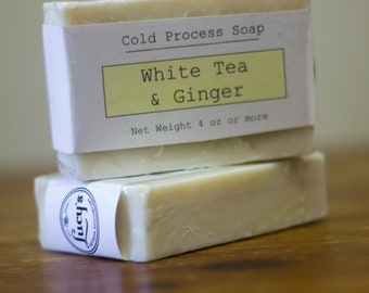 White Tea and Ginger Cold Process Soap