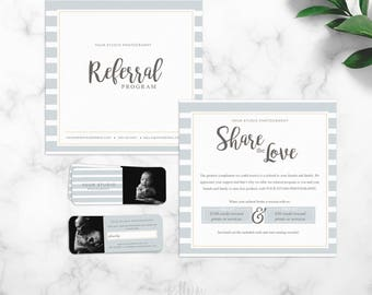 Referral Card Template - Photographer Referral Card - Photoshop Template - Instant Download - Rep Cards - Photography Template - Marketing