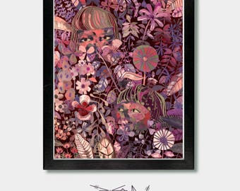 Floral, Wallflowers. Flowers, Girls, Pastel, Wall Flower, Pastel Goth, Witchy, Boho, Boho Flowers, Girls Boho, Goth, Woodland, Colorful