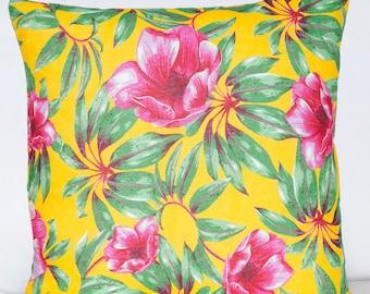Chita Pillow Cover   20x20 Pillow   Floral Pillow   Yellow Pillow   Pink Pillow   Boho Pillow   Rustic Pillow   Decorative Pillow