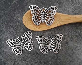 Pendants Butterfly Breloquespapillon filigree, silver, 26 x 18 mm