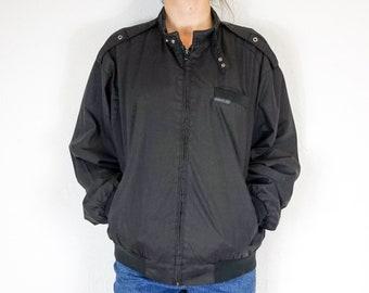Black Members Only Jacket | Vintage Members Only Jacket | Members Only Bomber Jacket | Vintage Bomber Jacket | Black Bomber Jacket