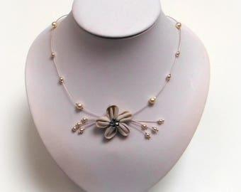 FLEURETTE bridal necklace ivory Co353