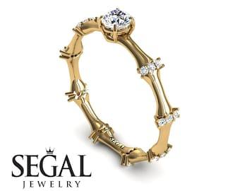 Unique Engagement Ring Yellow Gold Diamond Ring 1920S Ring Classic Ring Vintage Ring 14k Yellow Gold Unique Engagement Ring - Grace