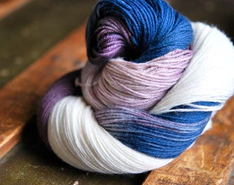 MCN Hand Dyed Sock Yarn - A Cold Winter's Night