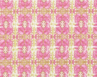 Fabric by the Yard --   Rose Water Wallpaper Room in Lime by Tina Givens