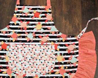 Adult Apron with Ruffles