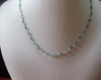 Dainty apatite gemstone necklace