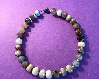 Large Gemstone Bead Necklace