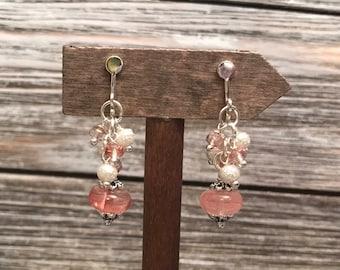Simple drop clip on earrings #17dec845