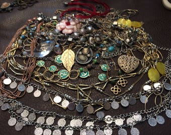 1 Lbs+ Vintage to Now Jewelry all Necklaces for Wear or Craft