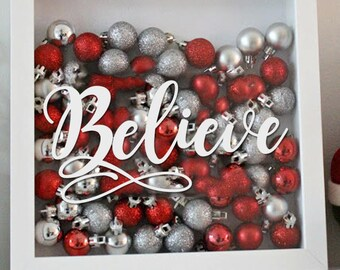 Believe Decal - Christmas - Holiday Vinyl Sticker - Vinyl Decal for Creating Christmas Decorations!