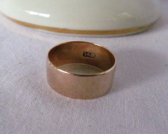 Victorian 14K Rose Gold Cigar Band Ring  Victorian Wedding Band 14K sz 7.75 Victorian Cigar Band Ring Rose Gold Rings Rose gold jewelry