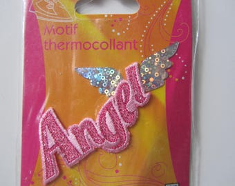 Fusible pattern - Angel with wings - glitter