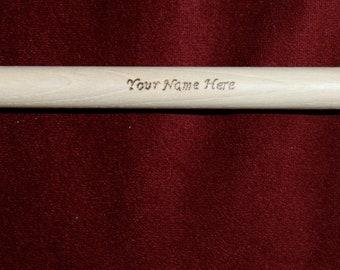 Custom Engraved Drumsticks.  Set of 3 Pairs.