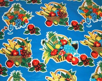 Vintage vinyl picnic fabric