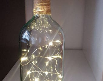 Glass Bottle lamp Upcycled Wine Bottle