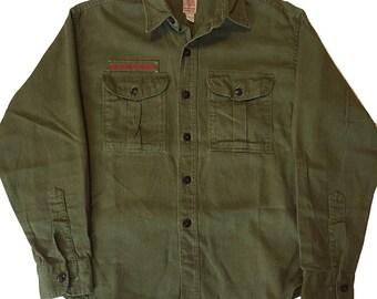 Vintage 1960s Sanforized Boy Scouts Shirt Mens Size S/M