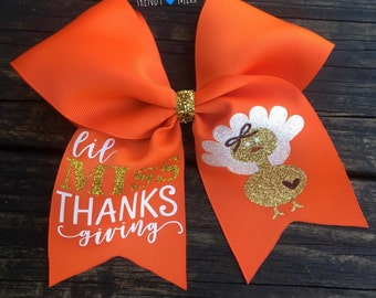 Lil miss thanksgiving bow